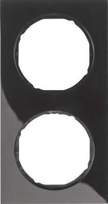 Berker Rahmen sw/gl 2-fach ch 10122245