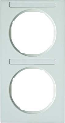Berker Rahmen m.Beschriftungsfeld polarweiß glänzend 10122269