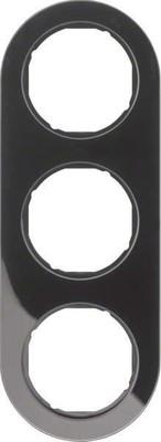Berker Rahmen sw/gl 3-fach ch 10132045