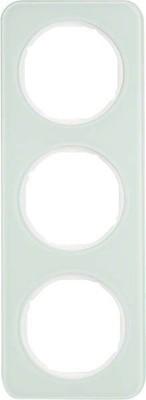Berker Rahmen Glas/pows 3-fach ch 10132109