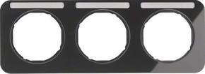 Berker Rahmen m.Beschriftungsfeld schwarz glänzend 10132135