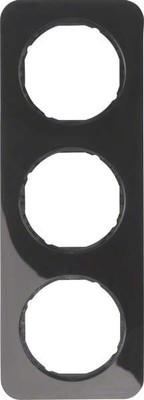 Berker Rahmen sw/gl 3-fach ch 10132145