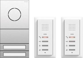 Gira ZFH-Paket Audio Edelstahl 2407000