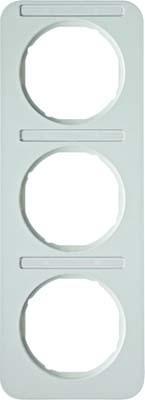 Berker Rahmen m.Beschriftungsfeld polarweiß glänzend 10132169