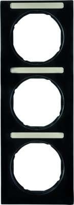 Berker Rahmen m.Beschriftungsfeld schwarz glänzend 10132225