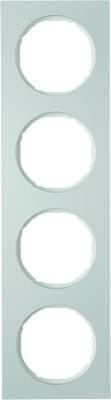 Berker Rahmen Alu/pows 4-fach ch 10142274