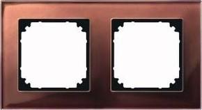 Merten Rahmen Glas 2-fach mah/br waage/senkrecht 489215