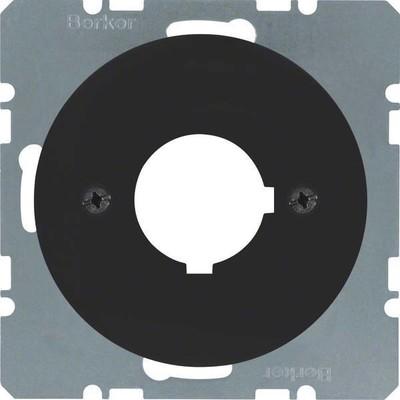 Berker Zentralplatte sw/gl f.Melde/Befehlgerät 14322045