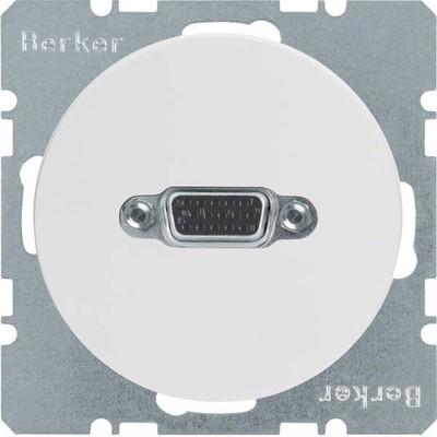 Berker VGA Steckdose pows/gl m.Schraubliftklemmen 3315412089