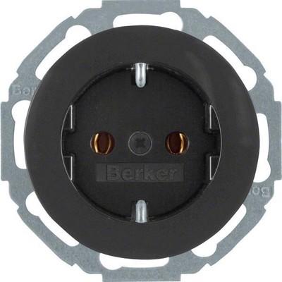 Berker SCHUKO-Steckdose sw/gl 41452045