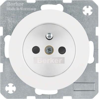 Berker Steckdose pows/gl m.Schutzkontaktstift 6768762089
