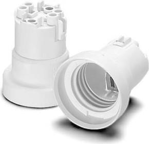 Houben Fassung E27 weiß,glatt,M3 108953