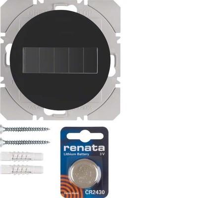 Berker KNX-Funk Wandsender 1-fach ch schwarz glänzend 85655131