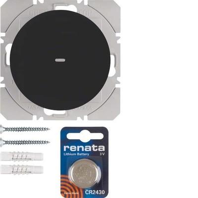 Berker KNX-Funk Wandsender 1-fach ch schwarz glänzend 85655231