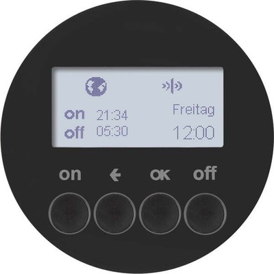 Berker KNX-Funk Zeitschaltuhr schwarz glänzend 85745231