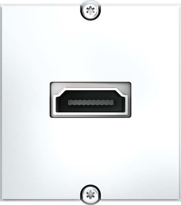 Bachmann Rahmen HDMI Schraubklemme weiß 917.183