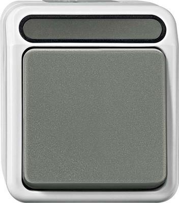 Merten Aus/Wechselschalter 1-polig, lichtgrau MEG3116-8029