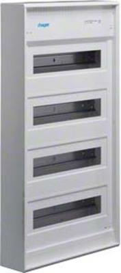 Hager Kleinverteiler, AP Volta IP30,4x12PLE,DIN4387 VA48CN