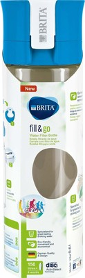 Brita Wasserfilter-Flasche 0,6L Fill Go VITAL blue