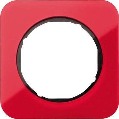 Berker Rahmen 1-fach rot transp./sw glanz 10112344