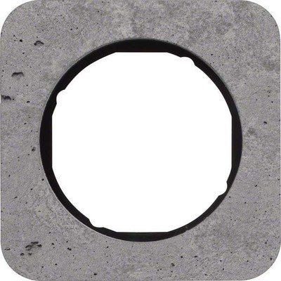 Berker Rahmen 1-fach Beton-grau/sw glanz 10112374