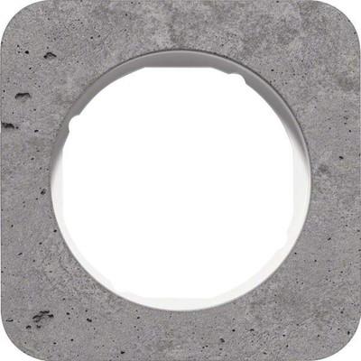 Berker Rahmen 1-fach Beton-grau/plw glanz 10112379