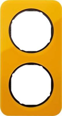 Berker Rahmen 2-fach orange tra./sw glanz 10122334