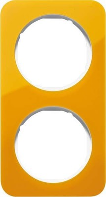 Berker Rahmen 2-fach orange tr./polws glz 10122339