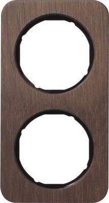 Berker Rahmen 2-fach Eichenholz/sw glanz 10122354