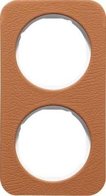 Berker Rahmen 2-fach Leder br/polws glanz 10122369