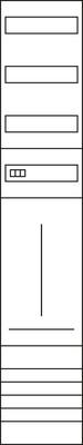 Hager Komplettfeld,univ.Z 1350mm,1feld,1ZP/VT ZH53X9S