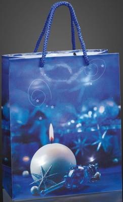 Hellum Glühlampenwerk Deko-Tasche Kerze blau 10-flg. 571035