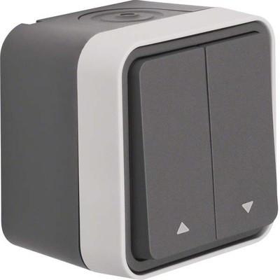 Berker Jalousie-Serienschalter 1-polig lichtgrau 30753525