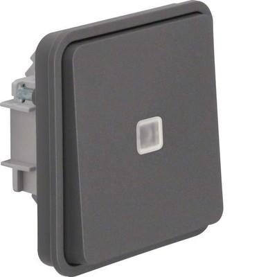Berker Wechselschaltereinsatz mit Wippe lichtgrau 30863525