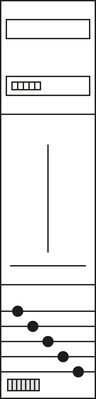 Hager Komplettfeld, univers Z 1ZP, H=1050mm,1-feld ZH31X7N