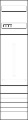Hager Komplettfeld, univers Z 1ZP, H=1050mm,1-feld ZH32P7K