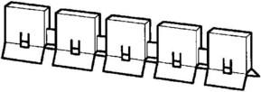ABB Stotz S&J Berührungsschutzkappen 5-teilig SZ-BSK 5