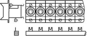 ABB Stotz S&J Sammelschienenblock 16qmm 13x3p. SZ-PSB 8 N