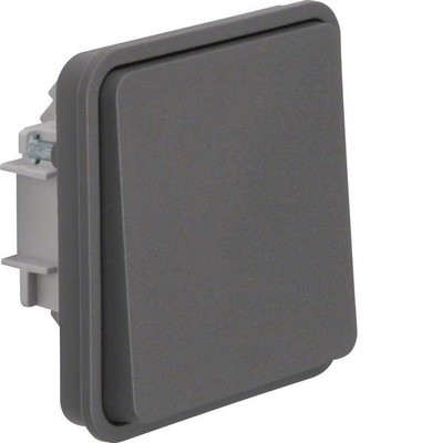 Berker Wechselschaltereinsatz mit Wippe lichtgrau 6130763515