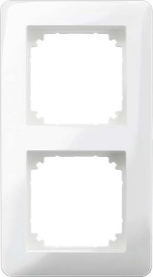 Merten Rahmen 2-fach o.Mittelsteg polarweiß glänzend MEG4020-3519