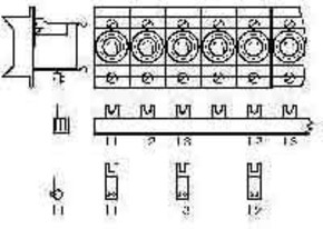 ABB Stotz S&J Sammelschienenblock Zuleitung:3Phasen SZ-PSB 7 N