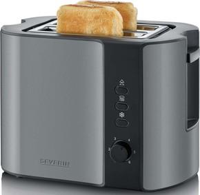 Severin Toaster ca. 800W, 2 Scheiben AT 9541 gr-met/sw