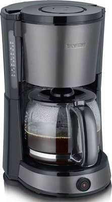 Severin Kaffeeautomat ca. 1000W, 10 Tassen KA 9543 gr-met/sw