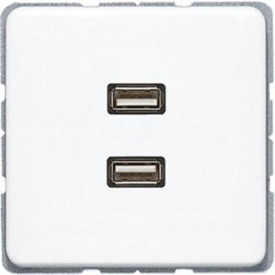 Jung Multimediadose 2 x USB alpinweiß MA CD 1153 WW