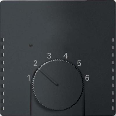 Busch-Jaeger Temperaturreglerabdeckung schwarz matt 1795 HK-885