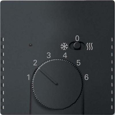 Busch-Jaeger Temperaturreglerabdeckung schwarz matt 1795 HKEA-885