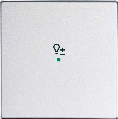 Busch-Jaeger Wippe 1-f Symbol Dimmer alusilber 6234-10-83