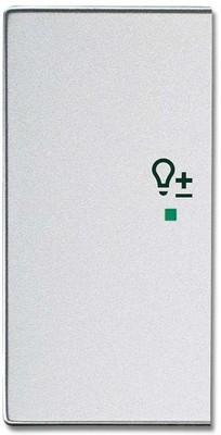 Busch-Jaeger Wippe 2-f li Symbol Dimmer alusilber 6234-21-83
