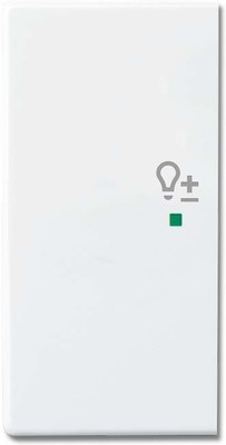 Busch-Jaeger Wippe 2-f li Symbol Dimmer studioweiß 6234-21-84