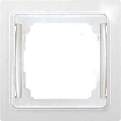 Eltako Flachrahmen 1-f. reinweiß glänz. RF1E-wg